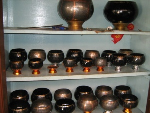 Bowls lined-up for sale