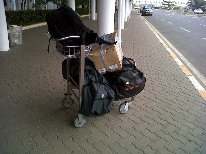 These bags ain't going anywhere but back to the guesthouse.