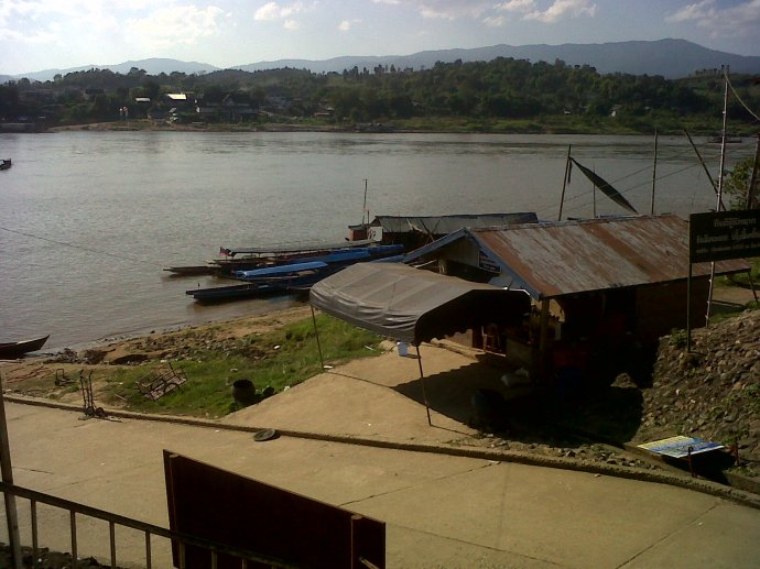That's Chang Khong on the other side of the Mekong